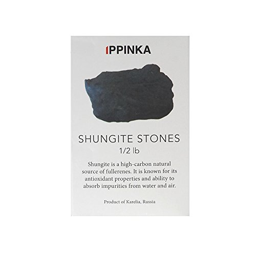 Russian Shungite Stones for Water Purification, 1/2 Pound, 10-20mm Stones