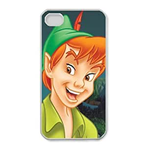 Protection Cover iPhone 4,4S Cell Phone Case White Rhgna Peter Pan Durable Rubber Cases