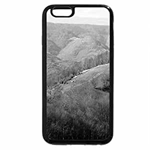 iPhone 6S Plus Case, iPhone 6 Plus Case (Black & White) - Sunny Mountain Day