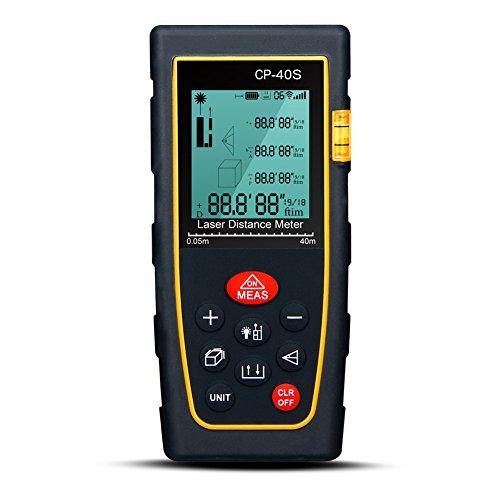 (Padgene Digital Laser IR Infrared Distance Meter 40-100 Meters Range Finder Measure Tape Diastimeter (40m(131Feet)))