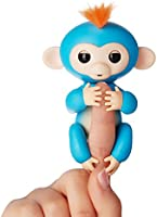 Authentic WowWee Fingerlings - Interactive Baby Monkey- Boris (Blue with Orange Hair) By WowWee
