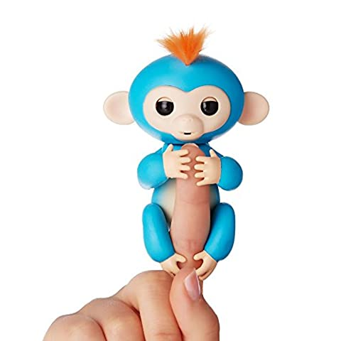 Fingerlings - Interactive Baby Monkey- Boris (Blue with Orange Hair) By WowWee - Toys and Games