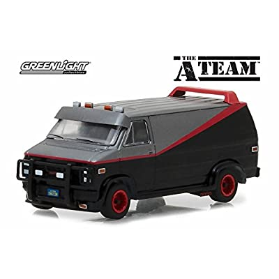 Greenlight 1983 GMC Vandura, The A-Team 44790B - 1/64 Scale Diecast Model Toy Car: Toys & Games