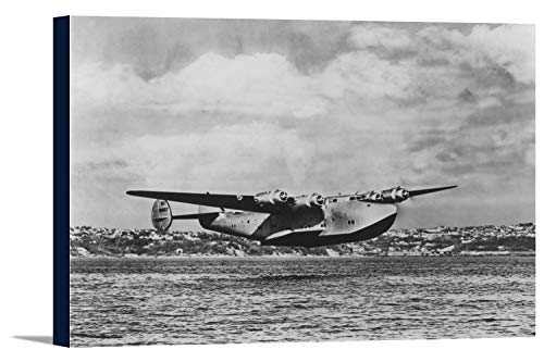 Boeing 314 China Clipper Over Water Airplane Photograph (36x24 Gallery Wrapped Stretched Canvas) ()