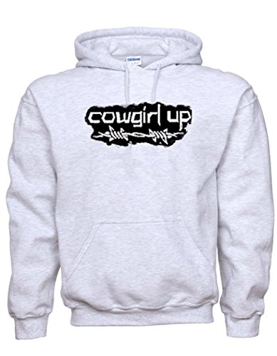 Cowgirl It Up Solid Color Hoodies For Women and Teens (2x, Gray)
