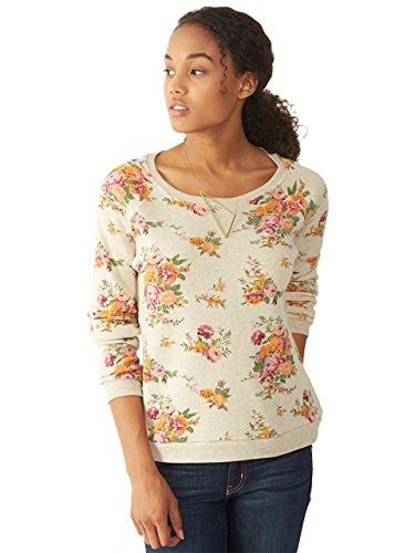 Alternative Womens Dash Printed Eco-Fleece Sweatshirt Small Country Floral