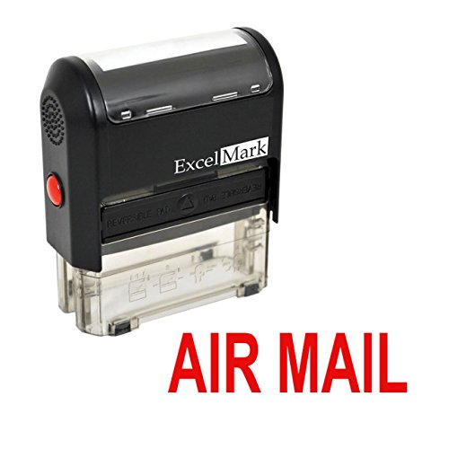 AIR MAIL Self Inking Rubber Stamp - Red Ink