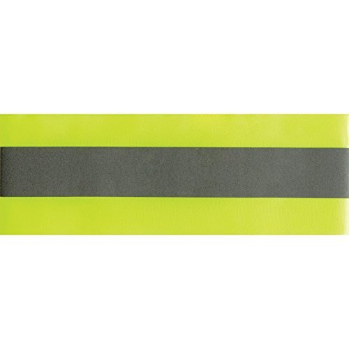 RICON Reflective Tape Strip, High Visibility Elastic 3M Fabric Florescent Reflective Safety Tape Sew-on Warning Safety Trim (Green 3M)