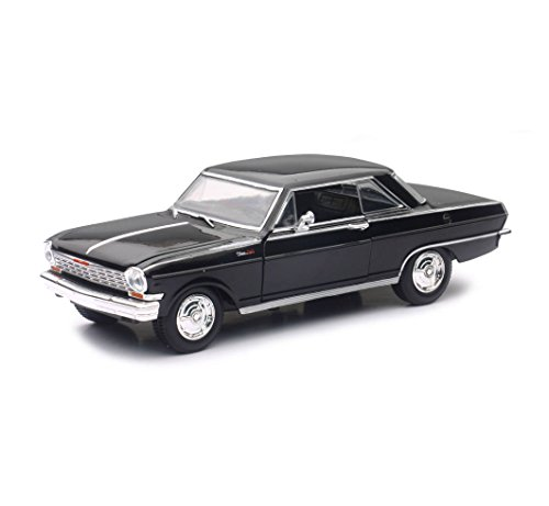 New Ray 71823B 1964 Chevrolet Nova SS Black Muscle Car Collection 1/25 Diecast Model - Diecast Car Nova
