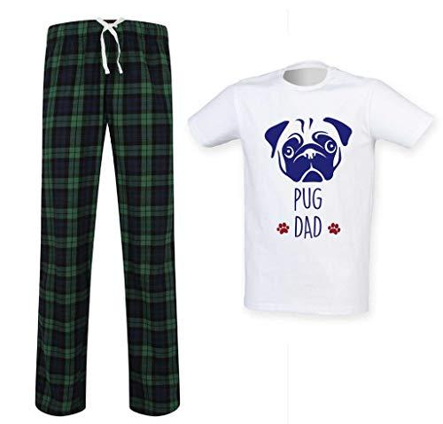 Papa Cadeau Pyjama Second 60 Écossais Ensemble Limited Des Carlin Makeover Fête Vêtements Pet Hommes Vert Pères XCffR4a