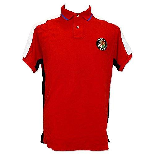 (ポロ ラルフローレン) POLO Ralph Lauren ポロシャツ メンズ 半袖 大きいサイズ ゴルフ (D.レッド/M)