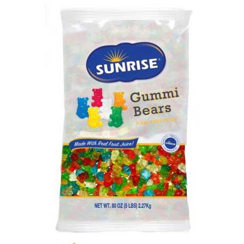 Sunrise Gummi Bears, 5 Pound -- 6 per case. by Azar Nut Company