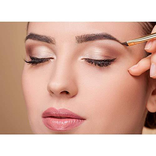 AOOK 15 Pieces Animal Makeup Brush Set Professional Face Eye Shadow Eyeliner Foundation Blush Lip Makeup Brushes Powder Liquid Cream Cosmetics Blending Brush (Black Golden 1-Pack)