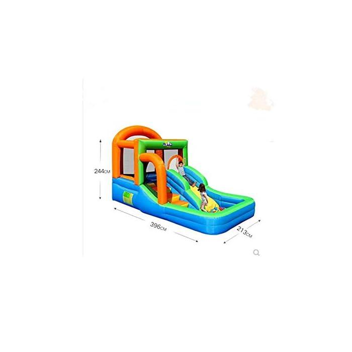 41eYRcKu6uL El castillo es perfecto para la imaginación y el juego de los niños. Si no se utiliza durante mucho tiempo, por favor embalado y, al mismo tiempo, prestar atención a los insectos de control de roedores, el tamaño es muy mecedora proporciona suficiente espacio interior libre de rebote, y con unos parámetros de seguridad al aire libre rápido y cómodo de tocones suelo. La parte inferior castillo hinchable tiene un diseño antideslizante de espesor, una mayor capacidad de salto, que está rodeado por una valla protectora gruesa, es segura, los niños juegan en la fortaleza, no se preocupe, su hijo será herido.