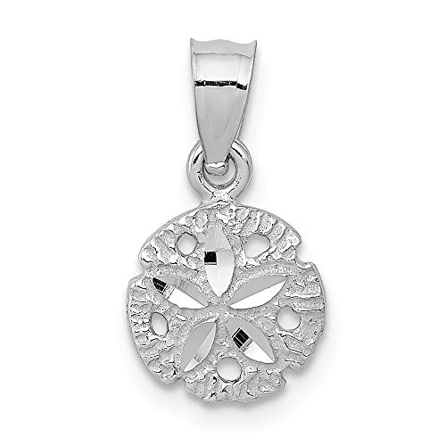 14k White Gold Sand Dollar Sea Star Starfish Pendant Charm Necklace Shore Shell Fine Jewelry Gifts For Women For Her