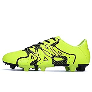 Yilaiyiqu_1 Popular Men's Performance Soccer Cleat Athletic Trainer Turf Football Shoes Yellow-28.5 D(M) US Fahion cycle