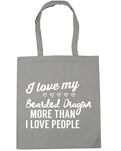 HippoWarehouse I I people bearded dragon Beach my litres x38cm Tote love 10 love than 42cm Gym more Shopping Grey Bag Light ddfq0wrxz