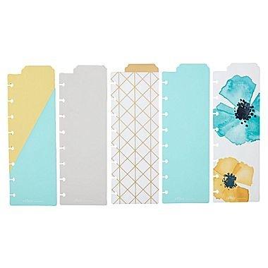 Martha Stewart Discbound Bookmark Dividers, 5-pack, Blue (44906)