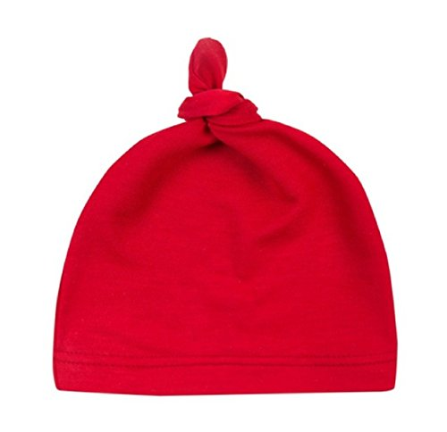 [Hot Sale! Baby Beanie Cute Newborn Toddler Beanie Infant Boys Girls Cotton Knot Sleep Hats baby products (Length: 35cm/13.77,] (Red Crayon Tank Dress Costume)
