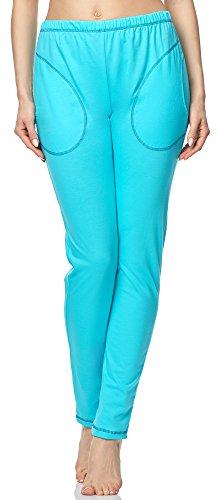 Merry Style Pantalones de pijama para Mujer MPP-002 Turquesa-2