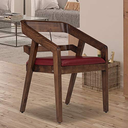 Durian Amelia Solid Wood Dining Chair  Red , Standard