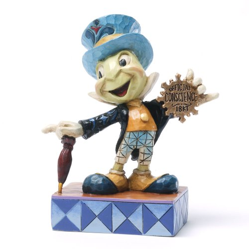 Enesco Disney Traditions by Jim Shore Jiminy Cricket from Pinocchio Figurine Official Conscience (4031474)
