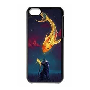 CAT YT8055198 Phone Back Case Customized Art Print Design Hard Shell Protection Iphone 5C