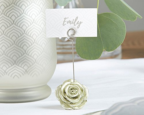 96 Light Gold Rose Place Card Holders by Kate Aspen (Image #2)
