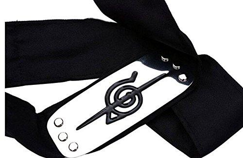 Touirch Anime Naruto Headband Leaf Village Metal Cosplay Logo Deidara Kakashi Uchiha Itachi (G)