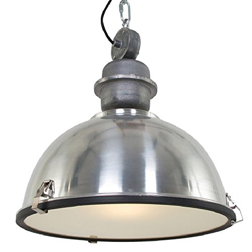 120V Italian Designed Hanging Industrial Pendant (Brushed ()