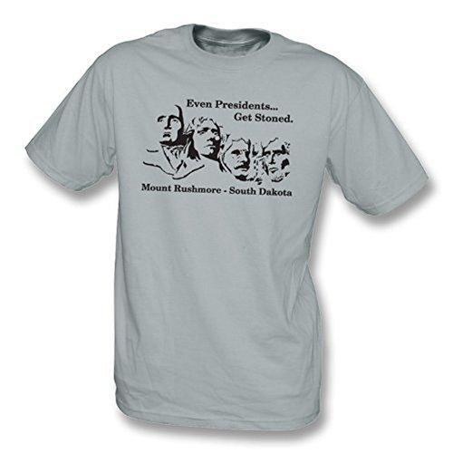 TshirtGrill Sogar Präsidenten erhalten entsteintes T-Shirt, Farbe- Grau