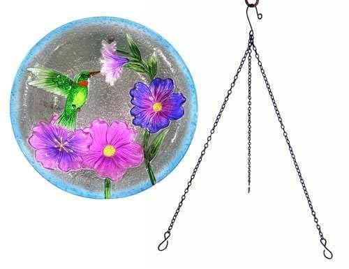 Glass Songbird Birdbath - Songbird Essentials Hummingbird Hanging Birdbath