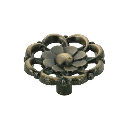 (Rok Hardware Vintage Bloom Flower Style Metal Decorative Kitchen Dresser Cabinet Drawer Knob 1-1/2