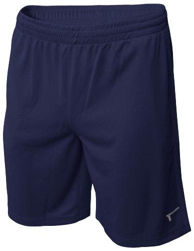 TREN Herren COOL Polyester Mesh Performance Short Sporthose mit Seitentaschen Navyblau 410 - L