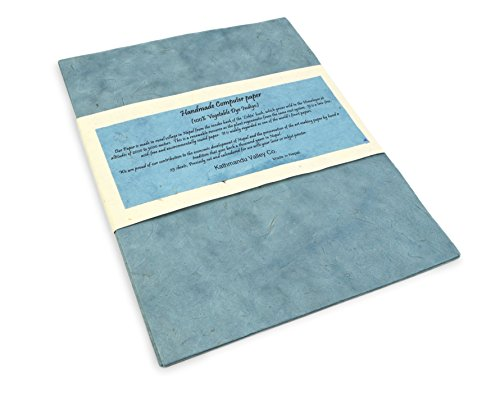 Handmade Lokta Laser and Inkjet Computer Paper (25 Sheets, Indigo) ()