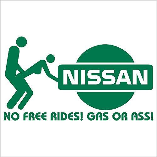No Free Rides Decal for NISSAN 200 240 280 SX VERSA ARMADA MURANO ALTIMA 300ZX TURBO SENTRA SE-R 240 SX 350Z 240sz GT-R 350Z 370Z NISMO MAXIMA Pathfinder Titan Frontier Xterra (6
