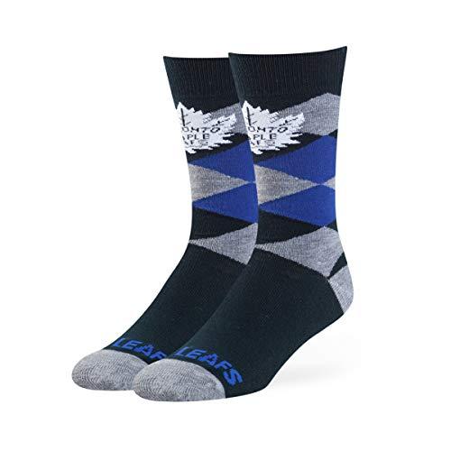 e Leafs Male Blaine Dress Socks, Light Navy, Large ()