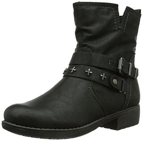 Marco Tozzi Cool Club 46406 Mädchen Biker Boots Schwarz (Black Antic / 2)
