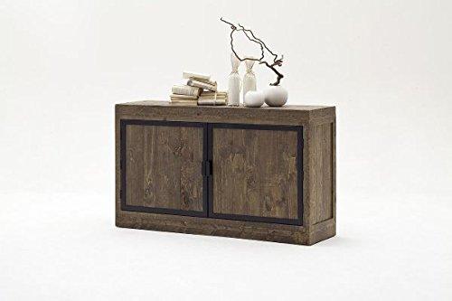 Kommode, Sideboard Recycle Kiefer Antik braun lackiert