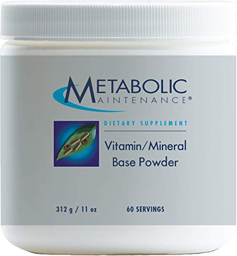 Metabolic Maintenance Vitamin/Mineral Base Powder - Iron Free Multivitamin with Active B Vitamins + Chelated Minerals (60 Servings / 312 Grams)