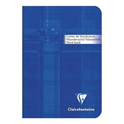 Clairefontaine Metric Carnet vocabulaire 10,5 x 14,8 64 Pages lign/é Couleurs Assortis