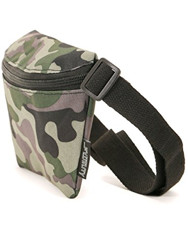 Fydelity Fanny Pack Waist Belt Bag Ultra-Slim -Camo Rave Festival |Men,Women