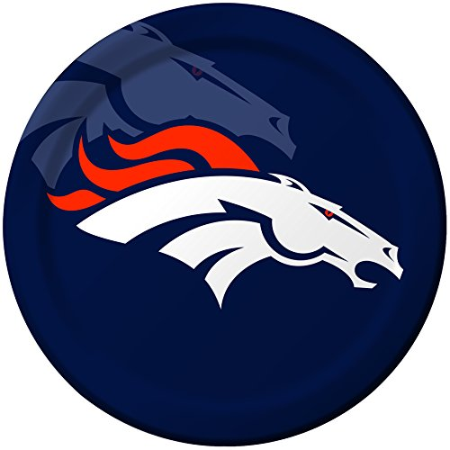 Creative Converting 8 Count Denver Broncos Paper Dinner Plates - 6458 -