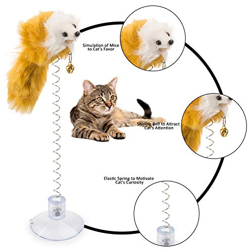 Tatuo 6 Pieces Cat Toys, Mouse Toys Cats, Furry Pet Cat Toys, Cat Teaser Wand Bell by Tatuo (Image #1)