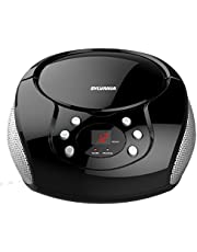 Sylvania Portable CD Boombox with FM Radio (Black) - SRCD261-Black