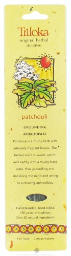 UPC 726078100427, Patchouli - Triloka Original Herbal Incense Sticks