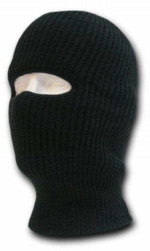 DECKY Face Mask 1 Hole Beanie, Black]()