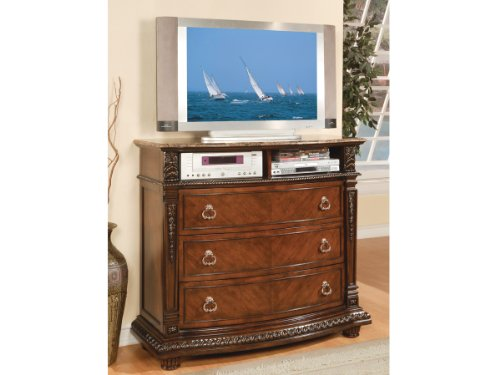 tv-media-chest-with-marble-top-in-rich-brown-finish