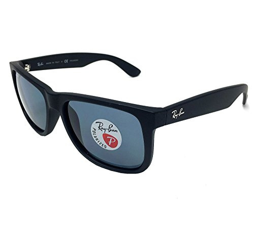 Ray Ban RB4165 622/2V Black/ Blue Classic Polarized 55mm - Ban Ray Justin Classic