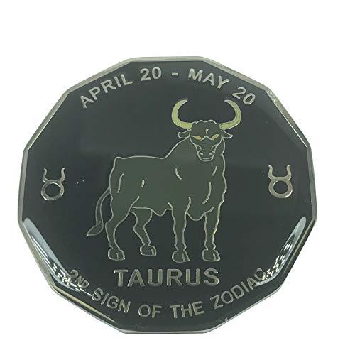 Horoscope Coin - Poker Weight Black Horoscope Commerative Challenge Coin (Taurus)